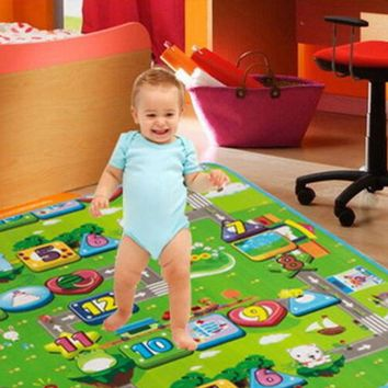 Large Kids Soft Play Mat 90*117cm,  Cartoon Numbers, Safety Activity Mat Child, Crawling Mat, Baby Floor Mat,  Baby Blanket Rug