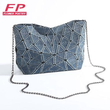 2017 New Bao Bao bag Women Geometric Fold Over Bags Women Handbags Chain Shoulder Messenger Bag Bolsa BAOBAO Evening Day Clutch