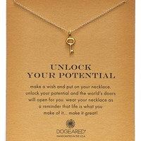 Women's Dogeared 'Reminder - Unlock Your Potential' Key Pendant Necklace