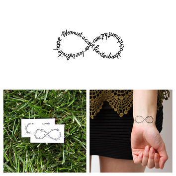 Infinity Symbol Quote - Temporary Tattoo (Set of 2) - Hope & Disappointment
