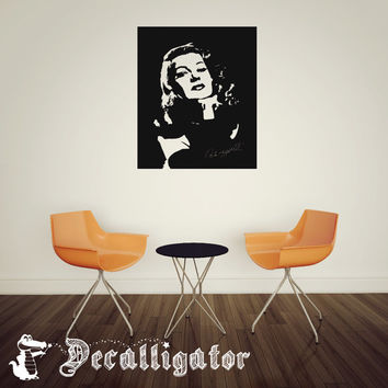 Wall Decal - Vintage/Retro Rita Hayworth - Mural Vinyl Stick-On Art for Any Room