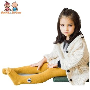 2pcs/lot Cotton Children's Double Needle Embroidery Pantyhose Baby's tights  Girl's tights TWT0127
