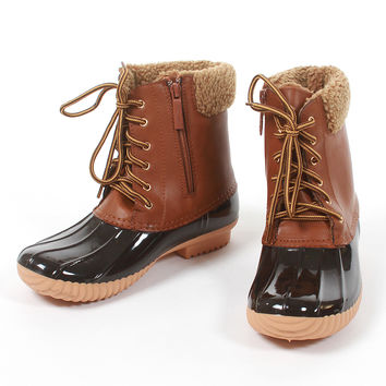 Puddle Jumper Duck Boots - Tan