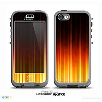 The Fiery Glowing Gradient Stripes Skin for the iPhone 5c nüüd LifeProof Case