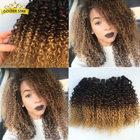 Virgin Indian Deep Curly Hair 4 Bundles 7a Afro Kinky Curly Weave