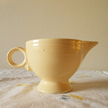 Original Fiesta Old Ivory Creamer Fiesta Cream Creamer Fiesta Ring Handle Creamer Ivory Fiestaware Creamer Antique Fiestaware Antique Fiesta