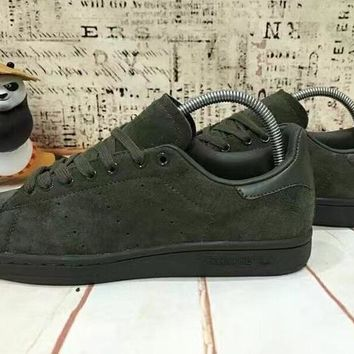 2017 Newest Adidas Originals Stan Smith Premium Suede Upper Shoes Army Green