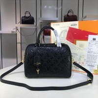 DCCK L081 Louis Vuitton LV Speedy Empreinte Leather Handbag 25-19-17CM Black