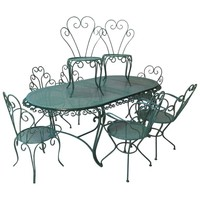 French 1950s Painted Iron Garden Set