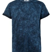 Ink Blue Wash Roller T-Shirt - Topman