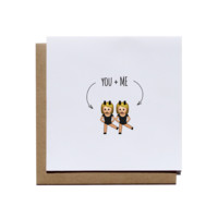 You + Me Emoji Notecard