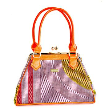 Designer African Print Top Handle  Tote Bag