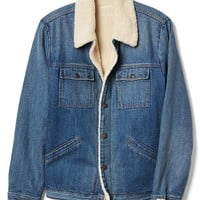 Icon sherpa-lined denim jacket | Gap