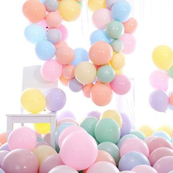 PartyWoo Balloons 100 pcs 10 Inch Party Balloons Latex Balloons Birthday Balloons Helium Balloons Party Decor Party Supplies for Birthday Wedding Graduation Party Christmas Baby Shower - Muiticolor