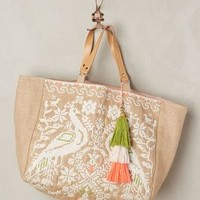 Phasian Tassel Tote by Star Mela Neutral One Size Bags