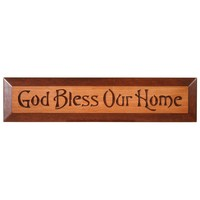 God Bless Our Home Carved Sign
