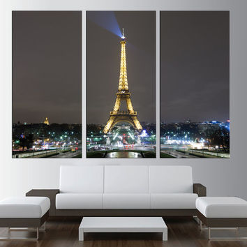 Paris Canvas Print wall art, extra large wall art, citycape art, Paris skyline wall art, eiffel tower canvas contemporary wall decor t169