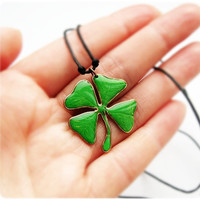 Pendant  Four Leaf Clover Lucky necklace