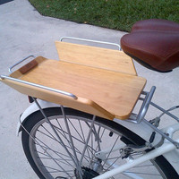 BCR Wing Basket 14SR: bike / bicycle wood / wooden crate / basket / cargo add-on accessory for rear racks