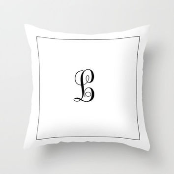 Decorative Throw Pillow Cover - Custom, Square, Rectangular, Double-sided print, Indoors, Outdoors, Solid, Color, Monogram, Gift, Initials