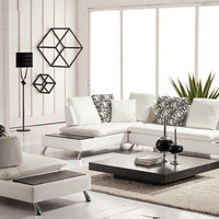 Divani Casa 2981 - Modern Bonded Leather Sectional Sofa & Chair