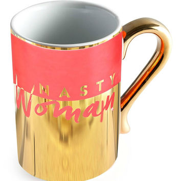 You Go Girl Nasty Woman Feminist Coffee Mug with Metallic Gold