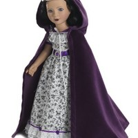 Purple Velvet Cloak and Silver Crown with Amethyst for 18 inch Carpatina, American Girl or AGFAT dolls