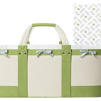 Serena & Lily Sausalito Moses Basket- Sprout w/Cloud Sheet