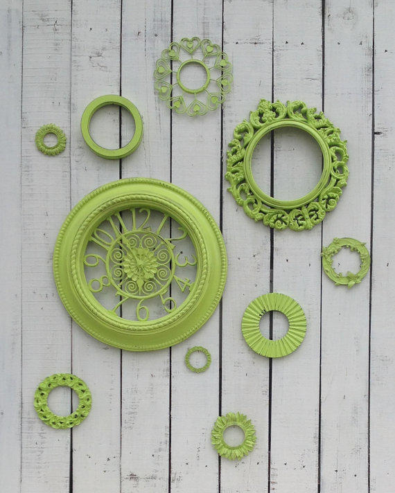 Lime Green Wall Of Circles Decor 10 From