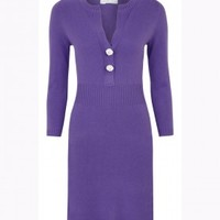 Cashmere by Tania Cashmere Knitted Long Sleeve Bodycon Dress