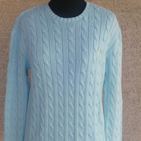 Ralph Lauren Sweater - Women's  small cotton sweater - Ralph Lauren Sport - Classic Ribbed sweater - long sleeves