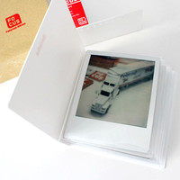 Polaroid Photo Album White Double Film Holder for Polaroid FP-100c Fujfilm Instax Wide Polaroid 600 Films of PX70 PX680 PX600 PX100 600