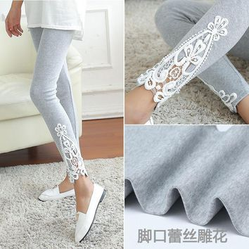 New Fashion Women Ladies Lace Crochet Sexy Skinny Leggings Stretch Jeggings Pants