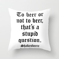 Shakesbeere Throw Pillow by LookHUMAN
