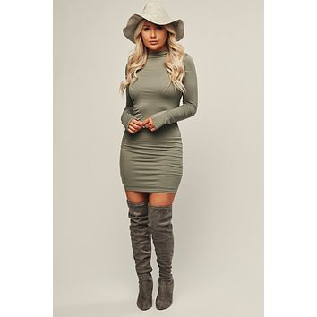 Forever Friends Bodycon (Light Olive)