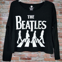 The Beatles Crop Top Juniors Sz Small (3-5) Oversized Boxy