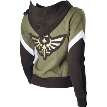 The Legend of Zelda Link Hoodie Zipper Coat Jacket Hoodies Sweater Cosplay Costume For Men Women High Quality XS-XXXL