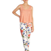 ModCloth 90s Skinny Fabulously Floral Pants