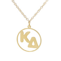 KD Letters Disc Necklace