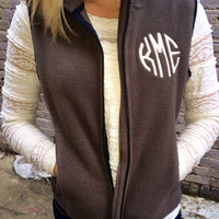 FREE shipping! Monogram Fleece Vest