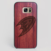 Anaheim Ducks Galaxy S7 Edge Case - All Wood Everything