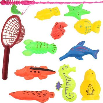 Magnetic Fishing toys bath toys Children's Puzzle early educational fishing play sets Summer toys Baby kids classic toys gifts