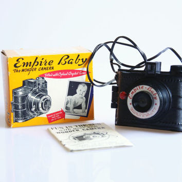 Vintage boxed toy camera, Empire baby the wonder camera, retro baby picture camera, 127 film camera, novelty toy camera, camera decoration