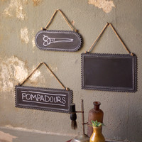 Ruffled Hanging Chalkboards - Set of 3