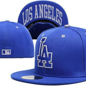 qiyif Los Angeles Dodgers New Era MLB Authentic Collection 59FIFTY Cap Blue LA