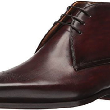 MAGNANNI MENS CAPRIO CHUKKA BOOT, MID BROWN, 12 M US