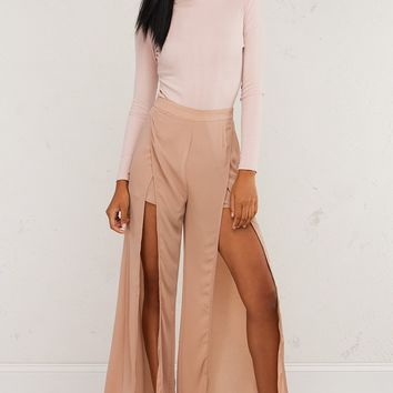 High Slit Pants For Fashionable Looks