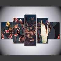 Naruto Animated Cartoon Characters Wall Art