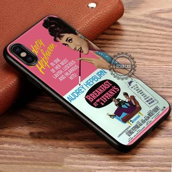 Audrey Hepburn Breakfast At Tiffany's Poster iPhone X 8 7 Plus 6s Cases Samsung Galaxy S8 Plus S7 edge NOTE 8 Covers #iphoneX #SamsungS8