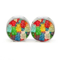 Stainless Steel Double Flared Gummy Bear Ear Gauges Plugs 1/2 Inch 12mm